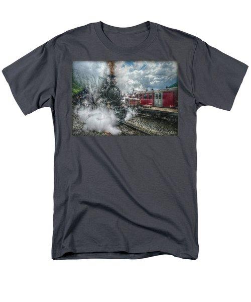 Men's T-Shirt  (Regular Fit) featuring the photograph Steam Train by Hanny Heim