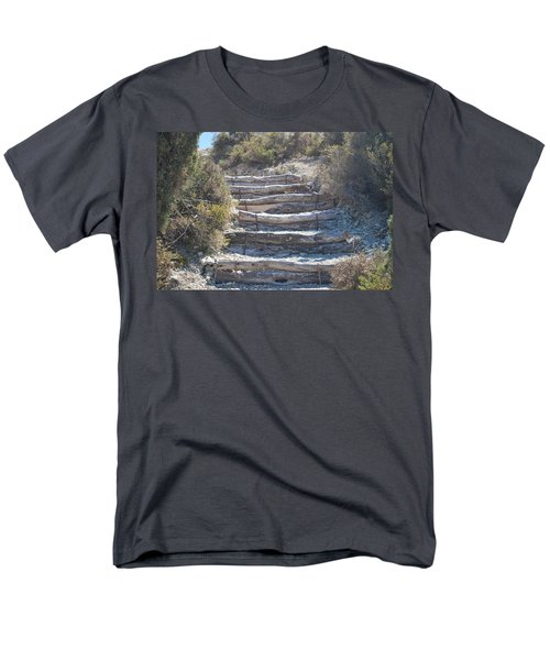 Steps In The Woods Men's T-Shirt  (Regular Fit) by George Katechis