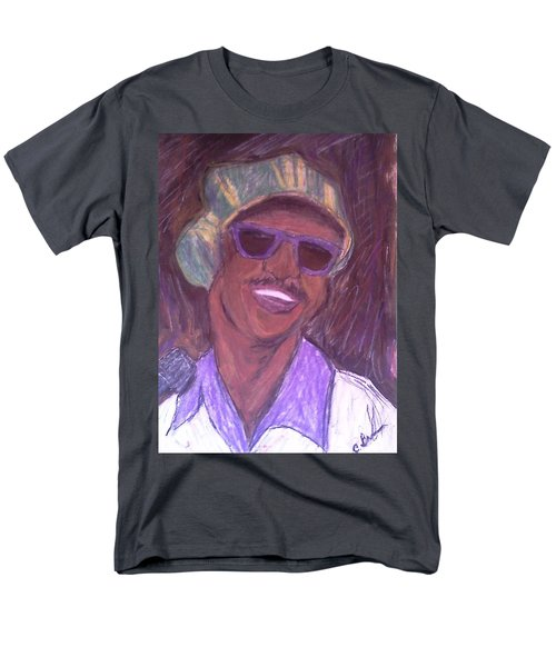 Men's T-Shirt  (Regular Fit) featuring the drawing Stevie Wonder 2 by Christy Saunders Church