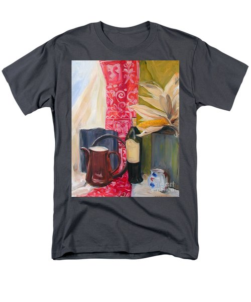 Still Life With Red Cloth And Pottery Men's T-Shirt  (Regular Fit) by Greta Corens