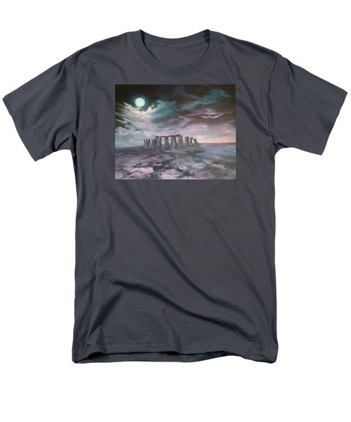 Men's T-Shirt  (Regular Fit) featuring the painting Stonehenge In Wiltshire by Jean Walker