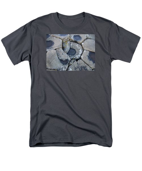 Men's T-Shirt  (Regular Fit) featuring the photograph Stones On Giant's Causeway by Marilyn Zalatan