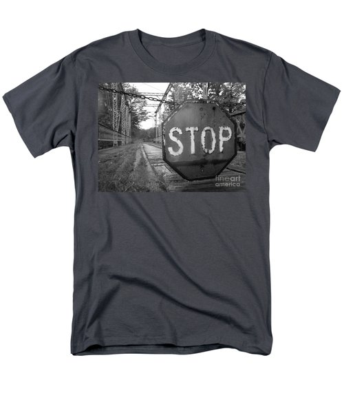 Stop Sign Men's T-Shirt  (Regular Fit) by Michael Krek