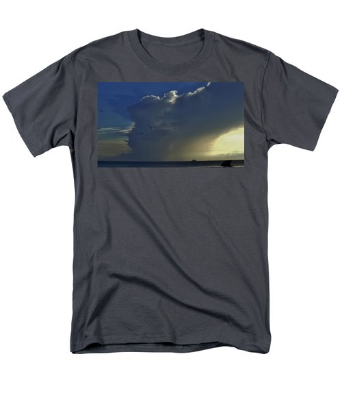 Storm Across Delaware Bay Men's T-Shirt  (Regular Fit) by Ed Sweeney