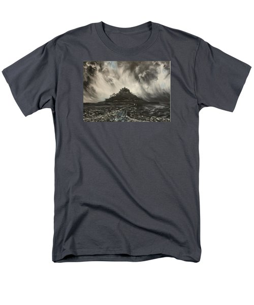 Men's T-Shirt  (Regular Fit) featuring the painting Storm Over St Michaels Mount Cornwall by Jean Walker