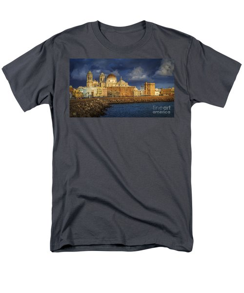 Stormy Skies Over The Cathedral Cadiz Spain Men's T-Shirt  (Regular Fit) by Pablo Avanzini
