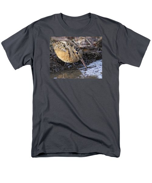 Streamside Woodcock Men's T-Shirt  (Regular Fit) by Timothy Flanigan