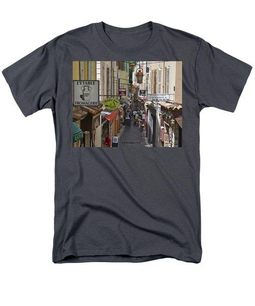 Men's T-Shirt  (Regular Fit) featuring the photograph Street Scene In Antibes by Allen Sheffield