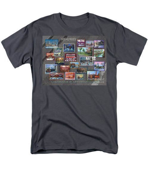 Men's T-Shirt  (Regular Fit) featuring the painting Streets Full Of Memories by Rita Brown