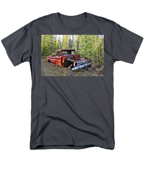 Men's T-Shirt  (Regular Fit) featuring the photograph Stripped Chevy by Cathy Mahnke