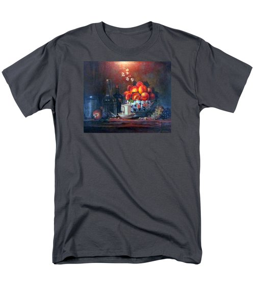 Men's T-Shirt  (Regular Fit) featuring the painting Study Of Peaches by Donna Tucker