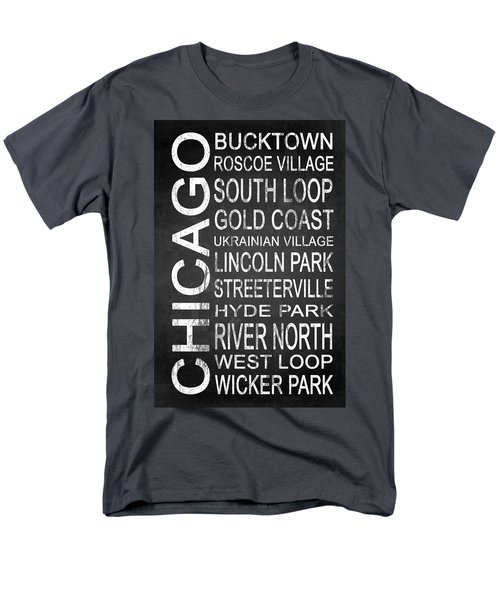 Subway Chicago 2 Men's T-Shirt  (Regular Fit) by Melissa Smith