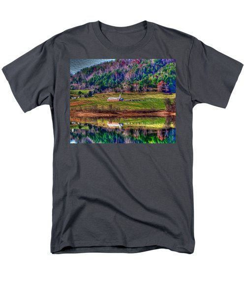 Sugar Grove Reflection Men's T-Shirt  (Regular Fit) by Tom Culver