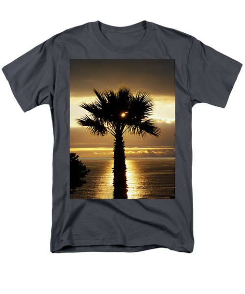 Sun And Palm And Sea Men's T-Shirt  (Regular Fit) by Joe Schofield