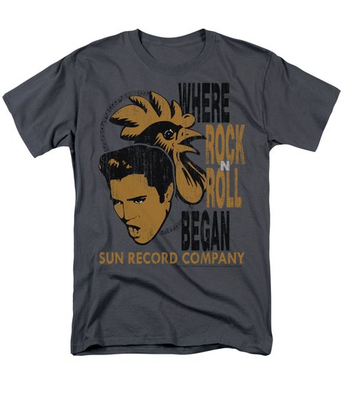 Sun - Elvis And Rooster Men's T-Shirt  (Regular Fit) by Brand A