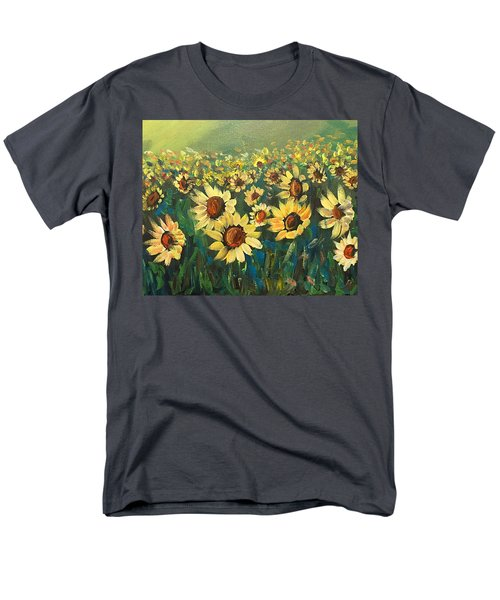 Men's T-Shirt  (Regular Fit) featuring the painting Sunflower Field by Dorothy Maier