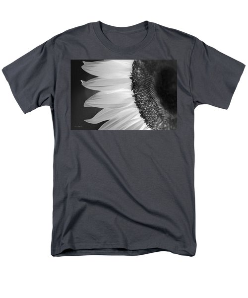 Sunflowers Beauty Black And White Men's T-Shirt  (Regular Fit) by Sandi OReilly