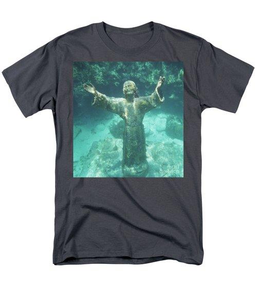 Men's T-Shirt  (Regular Fit) featuring the photograph Sunken Savior by Robert ONeil
