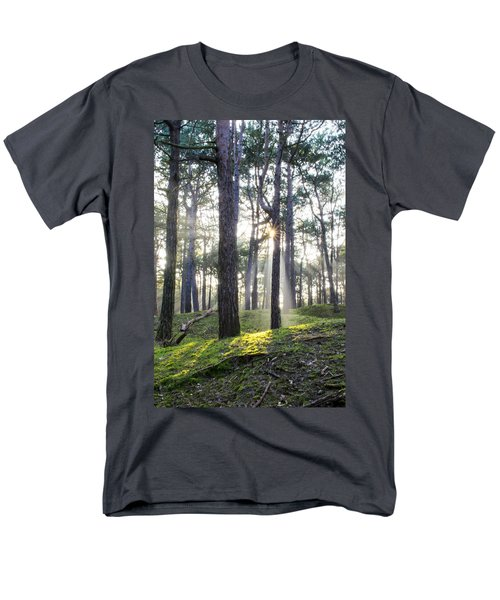 Sunlit Trees Men's T-Shirt  (Regular Fit) by Spikey Mouse Photography