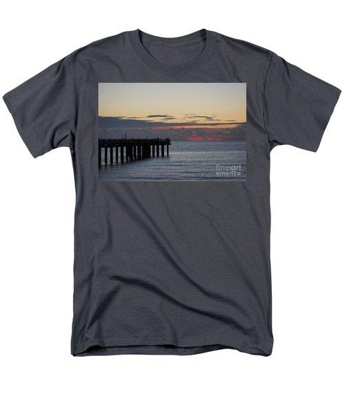 Men's T-Shirt  (Regular Fit) featuring the photograph Sunny Isles Fishing Pier Sunrise by Rafael Salazar