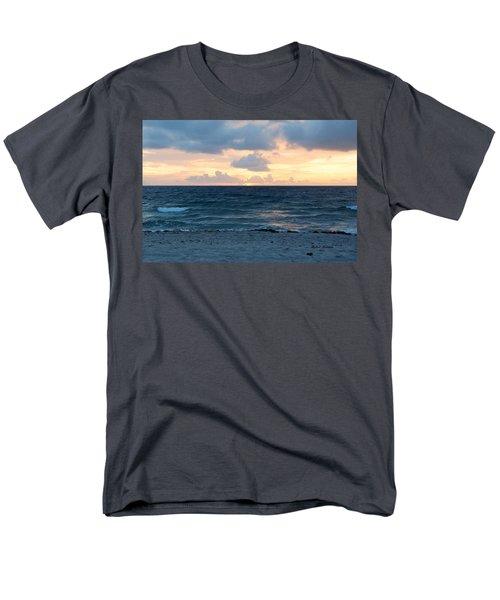 Men's T-Shirt  (Regular Fit) featuring the photograph Sunrise In Deerfield Beach by Rafael Salazar