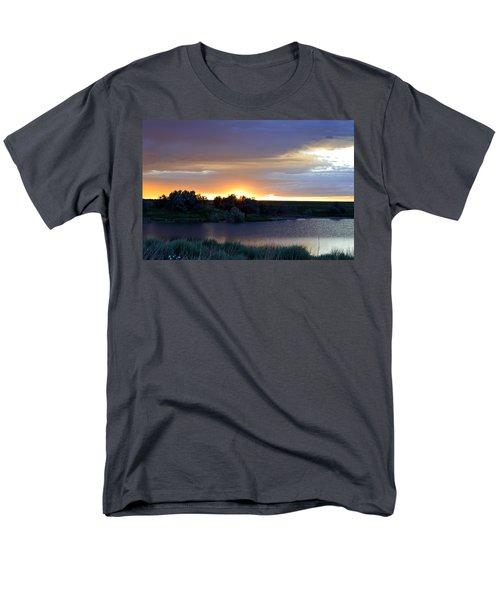 Men's T-Shirt  (Regular Fit) featuring the photograph Sunrise Over Kinney Lake by Clarice  Lakota