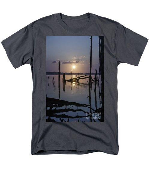Sunrise Over Manasquan Reservoir Men's T-Shirt  (Regular Fit) by Debra Fedchin