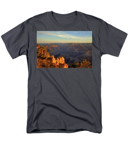 Sunrise Over Yaki Point At The Grand Canyon Men's T-Shirt  (Regular Fit) by Alan Vance Ley