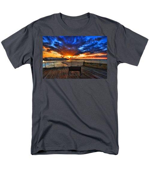 sunset at the port of Tel Aviv Men's T-Shirt  (Regular Fit) by Ron Shoshani