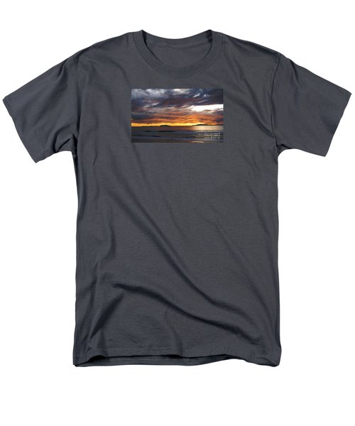 Men's T-Shirt  (Regular Fit) featuring the photograph Sunset At The Shores by Janice Westerberg