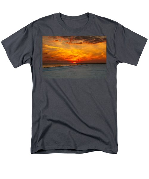 Men's T-Shirt  (Regular Fit) featuring the photograph Sunset Beach New York by Chris Lord