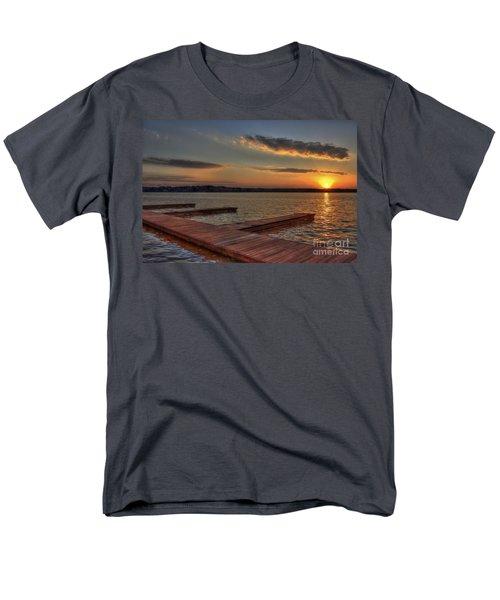 Sunset Docks On Lake Oconee Men's T-Shirt  (Regular Fit) by Reid Callaway