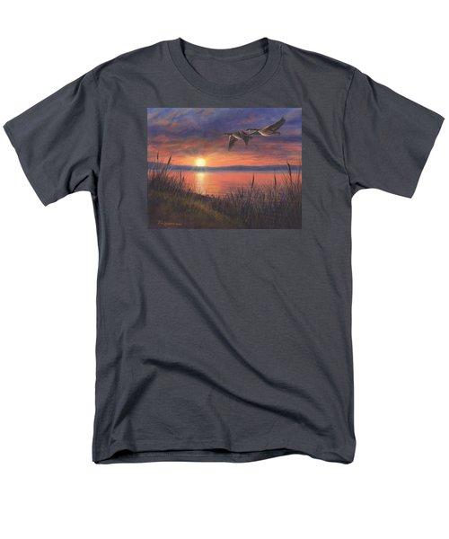 Sunset Flight Men's T-Shirt  (Regular Fit) by Kim Lockman