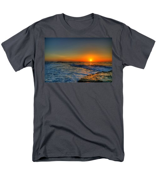 Sunset In The Cove Men's T-Shirt  (Regular Fit) by Dave Files