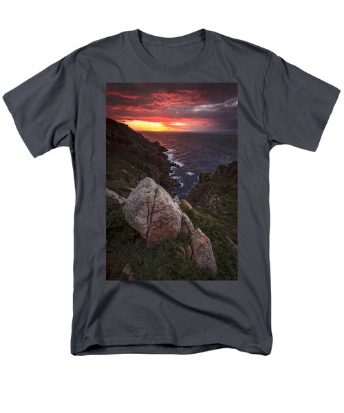 Men's T-Shirt  (Regular Fit) featuring the photograph Sunset On Cape Prior Galicia Spain by Pablo Avanzini