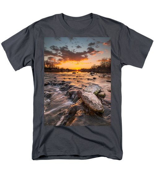 Sunset On River Men's T-Shirt  (Regular Fit) by Davorin Mance