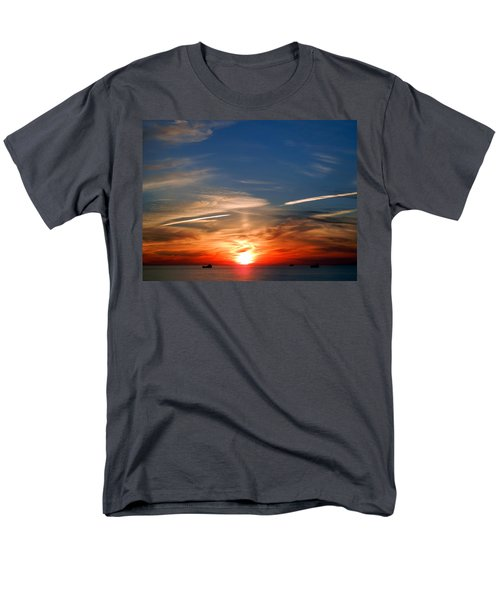 Men's T-Shirt  (Regular Fit) featuring the photograph Sunset On The Gulf Of Mexico by Debra Martz
