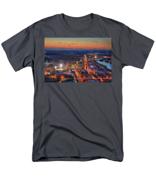 Sunset Over Fenway Park And The Citgo Sign Men's T-Shirt  (Regular Fit) by Joann Vitali