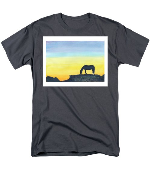 Sunset Silhouette Men's T-Shirt  (Regular Fit) by C Sitton