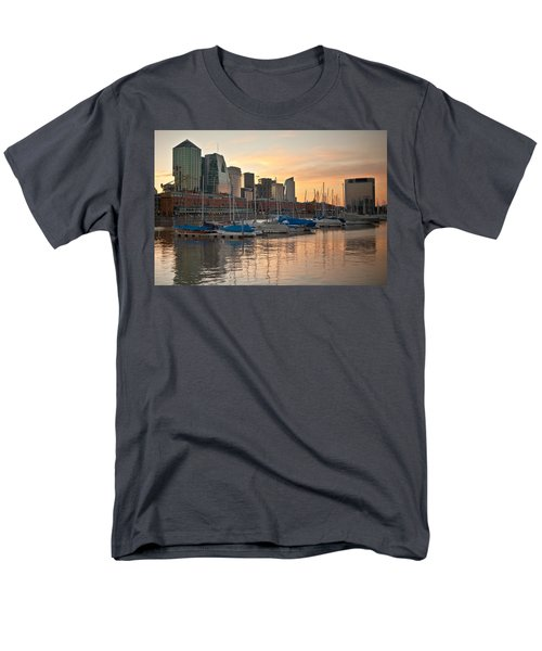 Men's T-Shirt  (Regular Fit) featuring the photograph Buenos Aires Sunset by Silvia Bruno