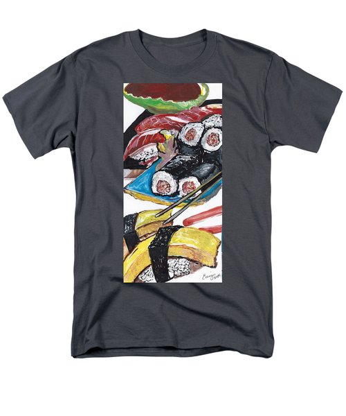 Sushi Bar Painting Men's T-Shirt  (Regular Fit) by Ecinja Art Works