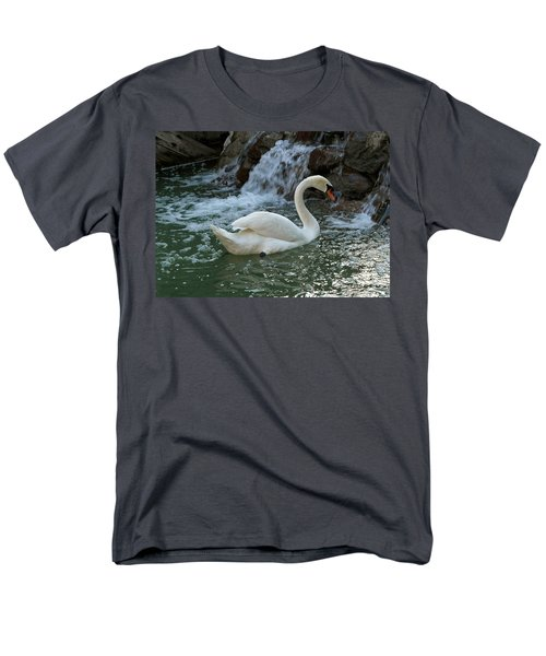 Swan A Swimming Men's T-Shirt  (Regular Fit) by Michele Myers