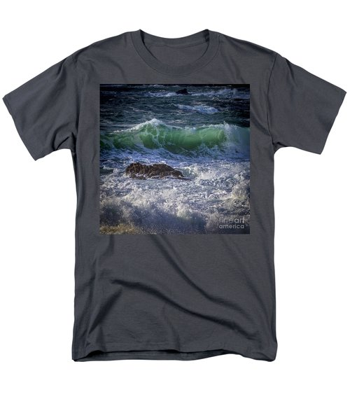Swells In Doninos Beach Galicia Spain Men's T-Shirt  (Regular Fit) by Pablo Avanzini