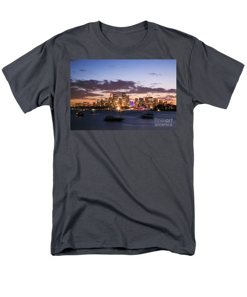 Sydney Skyline At Dusk Australia Men's T-Shirt  (Regular Fit)