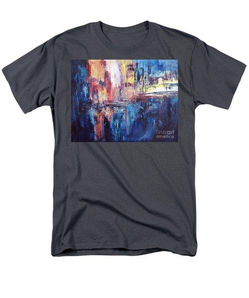 Symphony In Blue Men's T-Shirt  (Regular Fit) by Valerie Travers