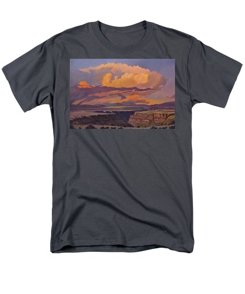 Men's T-Shirt  (Regular Fit) featuring the painting Taos Gorge - Pastel Sky by Art James West