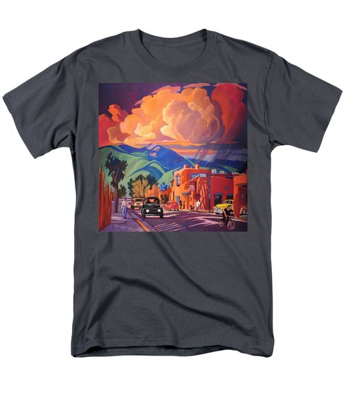 Men's T-Shirt  (Regular Fit) featuring the painting Taos Inn Monsoon by Art James West