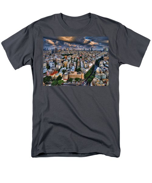 Tel Aviv Lookout Men's T-Shirt  (Regular Fit) by Ron Shoshani