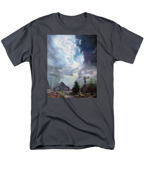 Texas Thunderstorm Men's T-Shirt  (Regular Fit) by Karen Kennedy Chatham