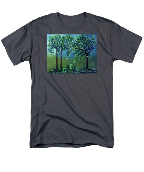 Men's T-Shirt  (Regular Fit) featuring the painting Texture Trees by Eloise Schneider